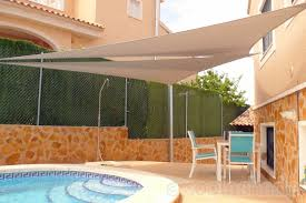 Triangle Awning Canopies Swimming Pool Shade In Spain