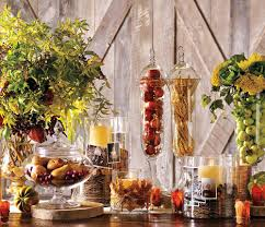 decorations diy easy thanksgiving clear glass table centerpiece