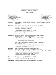 Format Of Resume In Word 100 Student Resume Samples Free Download Resume Student