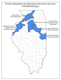 Illinois River Map Priority Watersheds The Illinois Council On Best Management