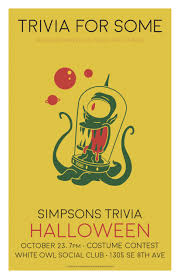 win free tickets to halloween horror nights classic simpsons trivia halloween edition at white owl social