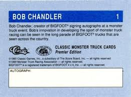 monster truck racing association 1990 classic monster trucks racing gallery the trading card database