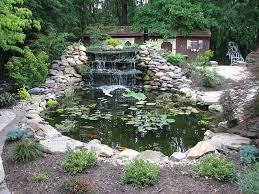 Waterfall In Backyard Pittsburgh Koi Pond Waterfall Outdoor Fountains