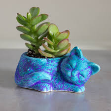 Succulent Planter by Kitty Planter Ceramic Succulent Planter Handmade Pottery Planter