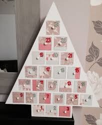 home decorated advent calendar tree from hobbycraft