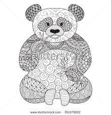 hand drawn tribal wombat animal totem for coloring