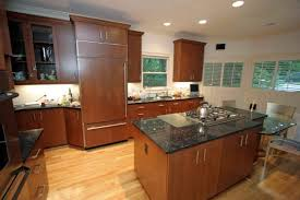 Kitchen Cabinets Cherry Cherry Wood Kitchen Cabinets With Black Granite Sets Design Ideas