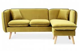 canapé jaune moutarde canapé d angle modulable tissu jaune moutarde pièce à vivre