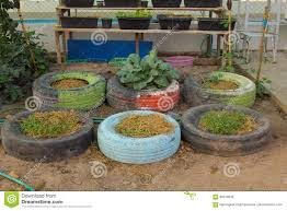 diy idea to recycle of tire used with flowers or plant in old