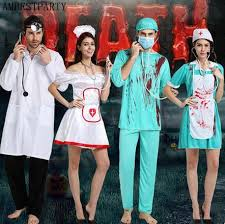 Killer Nurse Halloween Costume Shop 2017 Halloween Bloody Doctor Costumes Horror