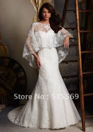 wedding dresses with bolero most popular custom made mermaid chapel v neck