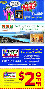 branson drive through christmas lights branson christmas map map coupons deals