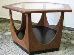 furniture teak coffee table with solid smoked glass indoors g