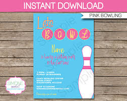 pink bowling party etsy
