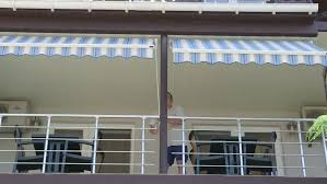 Hotel Awning Folding Retractable Awning Are Mounted Onto The Outside Wall Of