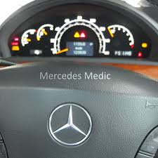 mercedes benz check engine light codes bas esp abs warning lights on