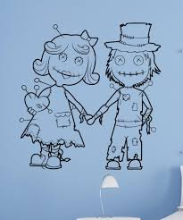 wall decals for home wall vinyl stickers vinyl art decals vinyl wall decal sticker voodoo doll couple 1513
