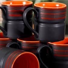 buy unravel india matt work black coffee mug set online in india
