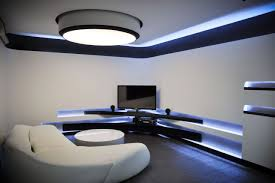 Ultra Modern Sofas by Amazing Hidden Light Apartment Design Ideas Cool Tv Setup Modern