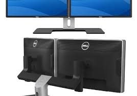 Computer Desk Dual Monitor Geek Deals 297 For 22 Inch Dual Monitors With Stand Ideatab