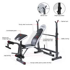 tomshoo weight lifting bench fitness home gym strength multi