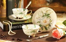 tea cup set aliexpress buy 180 ml noble style ceramic flower tea cup set