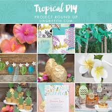 Tropical Decor Tropical Diy Projects For Home Or Party Decor Lia Griffith