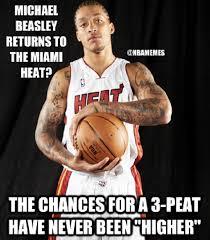 Miami Heat Memes - michael beasley returns to heat nation http weheartnyknicks com