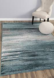 Modern Grey Rug Teal Gray Rug Modern Contemporary 5 3 X 7 7 5 8 Soft