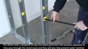 steel stud drill by plumtool youtube