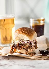 slow cooker bbq pulled pork sandwich recipetin eats