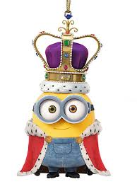 despicable me king bob minion ornament 2 25