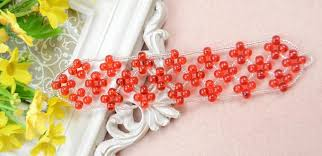 bead weave bracelet images Right angel weave bracelet tutorial make an embellished red bead jpg