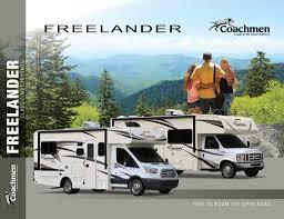 coachmen rv brochures floorplans and catalogs rv literature view the brochure 2018 coachmen freelander brochure