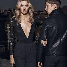 express black jumpsuit black lace surplice front jumpsuit from express