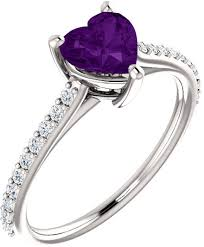 amethyst heart rings images Royal purple heart amethyst ring in sterling silver jpg