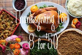 how to do thanksgiving on a 50 budget