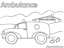 ambulance coloring pages preschool jana 5 pinterest coloring pages