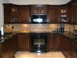 small tile backsplash in kitchen espresso kitchen cabinets in 12 sleek and cool designs rilane