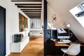 bureau dans salon salon et coin bureau sous les combles meero photo n 56