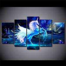 compare prices on canvas art horses online shopping buy low price wall picture for home decor painting 5 panel animals colorful horse kids room wall canvas art