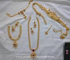 gold bridal set one gram gold bridal jewellery sets from svs south india jewels