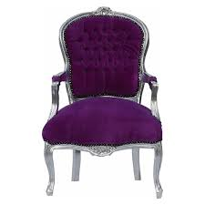 Purple Chair Uk Shabby Chic Side Chair With Solid Wood Silver Leafed Frame In