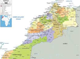 Offline Map Maroko Offline Map Kaart Maroko Offline Põhja Aafrika Aafrika