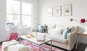 cream sofa with aqua pillows transitional living room