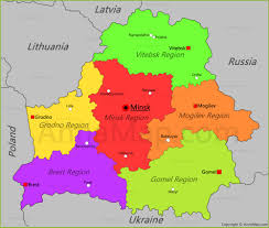 map of belarus political map of belarus nations project map of belarus