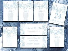 winter wonderland table numbers winter wedding seating chart template snowflake wedding winter