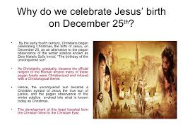 Is Really Jesus Birthday The Season