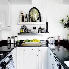 black and white kitchens ideas floating spice rack and display furniture storage for tiny kitchen