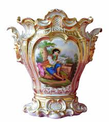 Vase French Stunning French Antique Large C 1850 Rococo Old Paris Porcelain